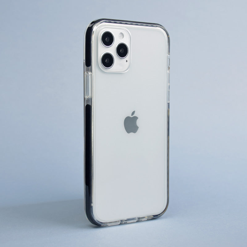 white iphone 11 pro with slim phone case