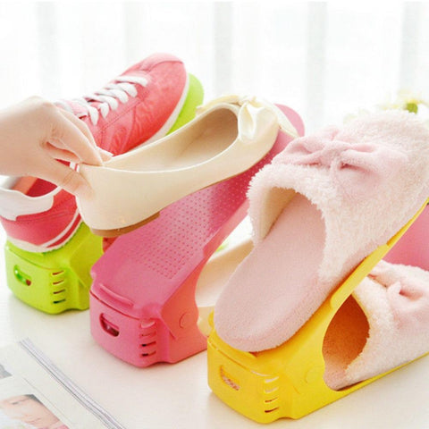 Image of Durable Plastic Shoes Storage Rack Display