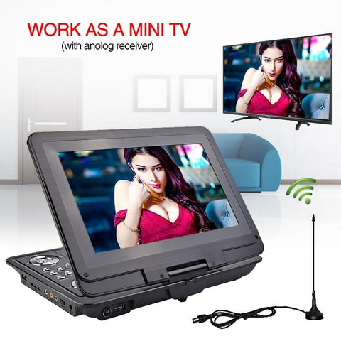 Image of 13 inch HD Portable DVD Player Mobile Digital Multimedia Player
