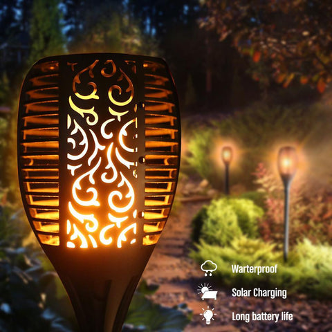 Outdoor LED Solar Waterproof Flickering Flame Torch Light  - For VIP Members Only