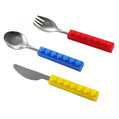 Image of Brick Shaped Stackable Cutlery (3pcs)