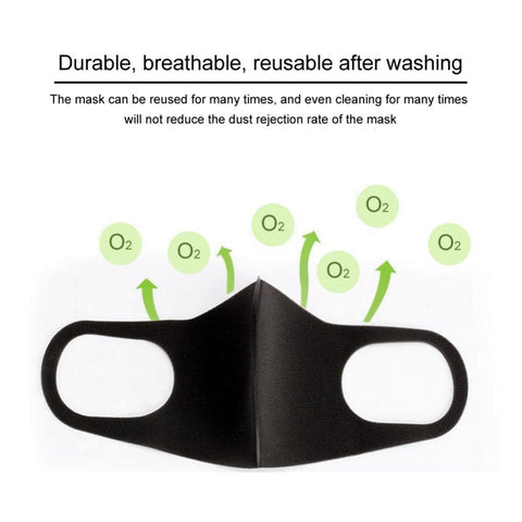 Image of 3 Piece Washable Anti Dust Face Respirator Mask For Adults