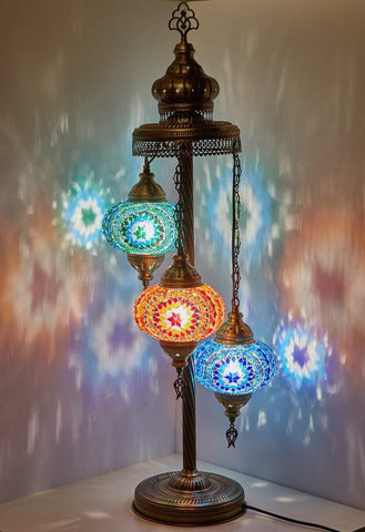 Image of Handmade Turkish Moroccan Mosaic Floor Lamp