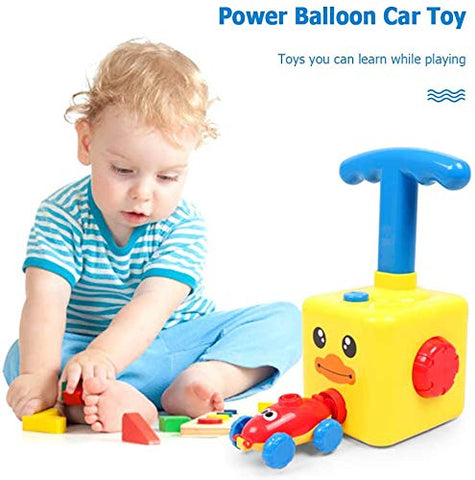 Image of BALLOON LAUNCHER CAR TOY SET