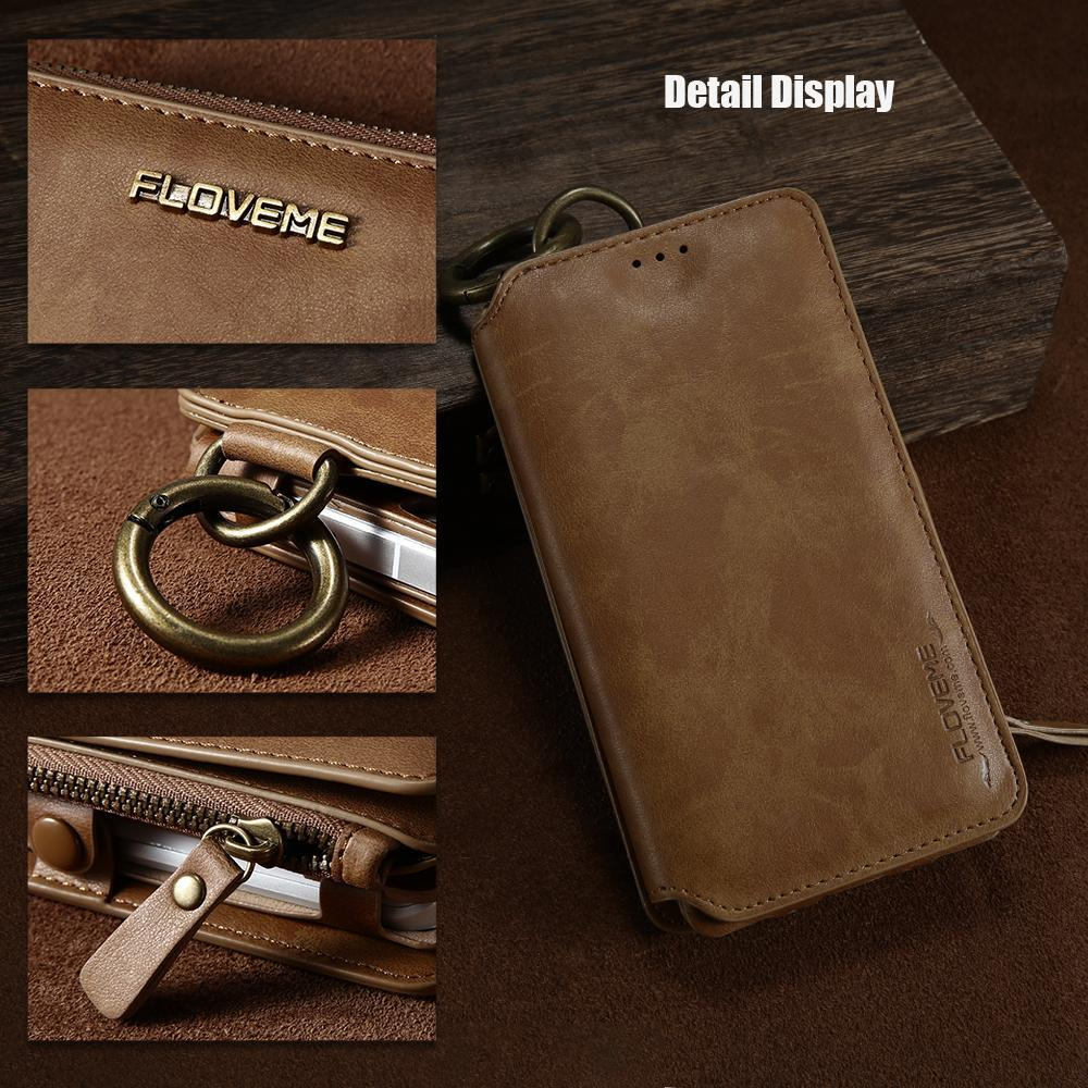 Luxury Retro Leather Wallet Case For Iphone