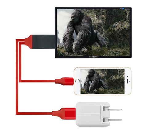 Image of iPhone to TV Screen HDMI Cable