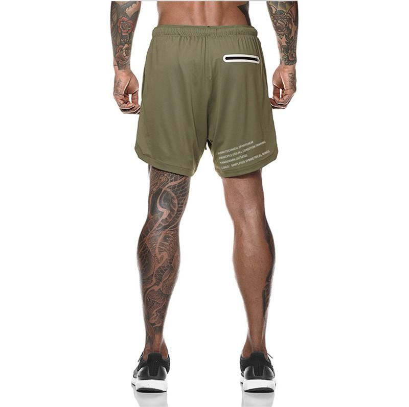 Men's 2 in 1 Secure  Pocket Athletic Shorts