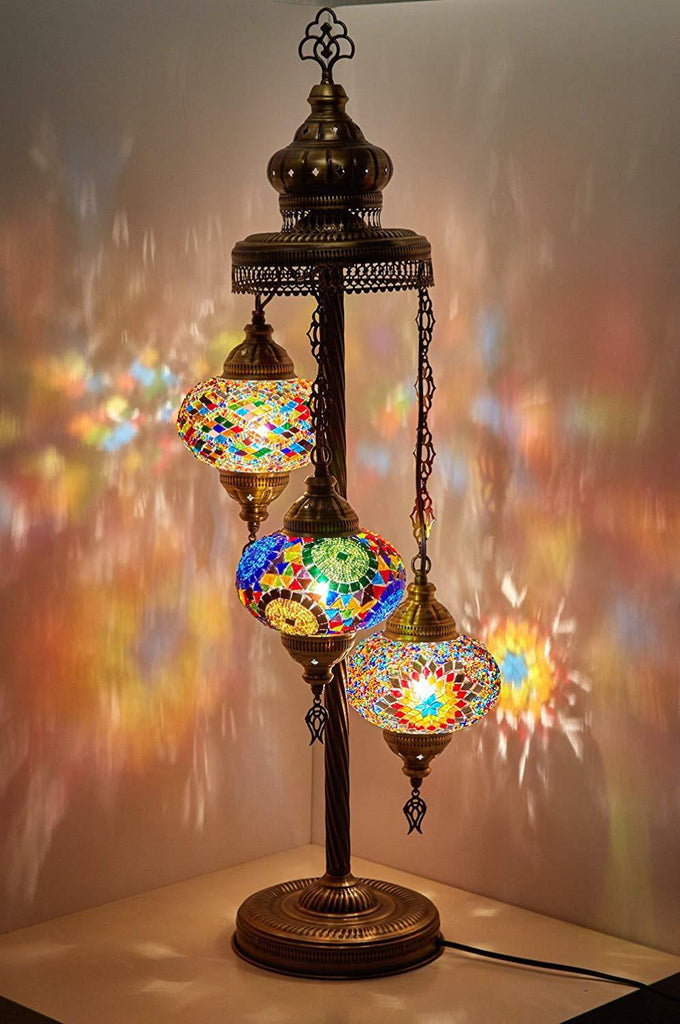Handmade Turkish Moroccan Mosaic Floor Lamp
