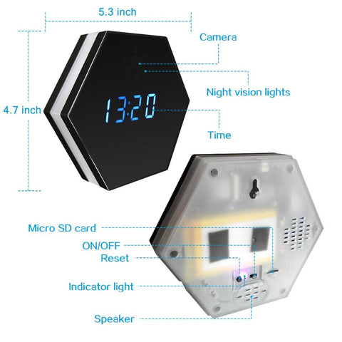 Image of Spy HD 1080P Video Clock - For VIP Members Only