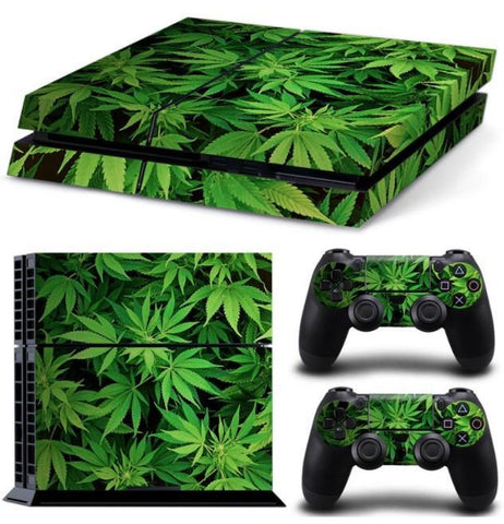 Image of Cannabis Skin For PS4 + 2 Controllers - Cannabis Skin For PS4 + 2 Controllers