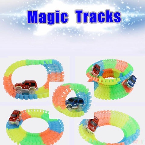 Image of Diecasts & Toy Vehicles - Magic Glow Racing Track Set