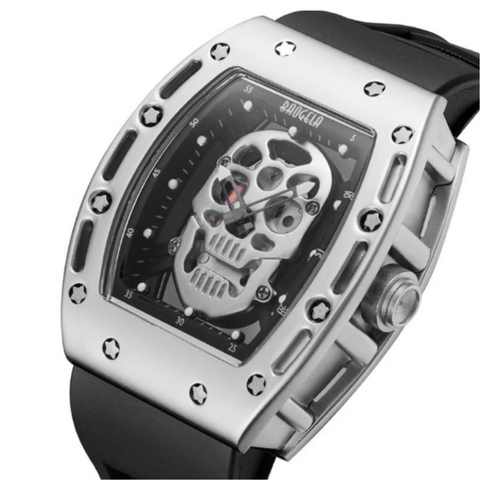 Men's Military Skull Face Watch