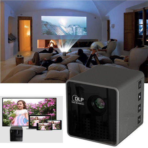 Image of Projectors - Ultra Mini 1080P HD WIFI Projector