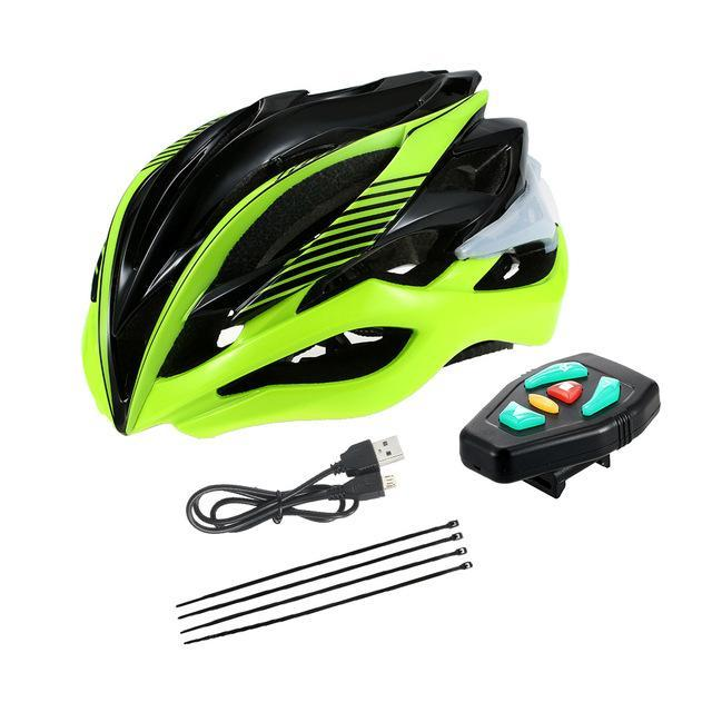 Smart Bicycle Helmet with LED Signal Light