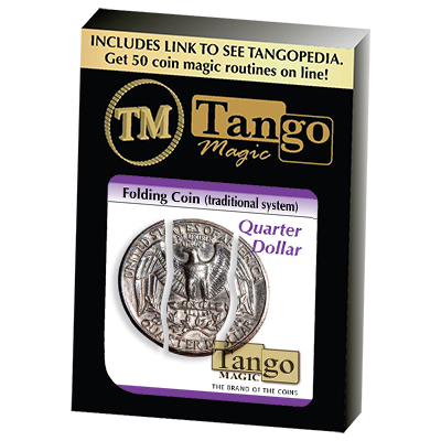 Folding Coin Quarter (D0021) (Traditional) by Tango Magic - Trick (D0021)