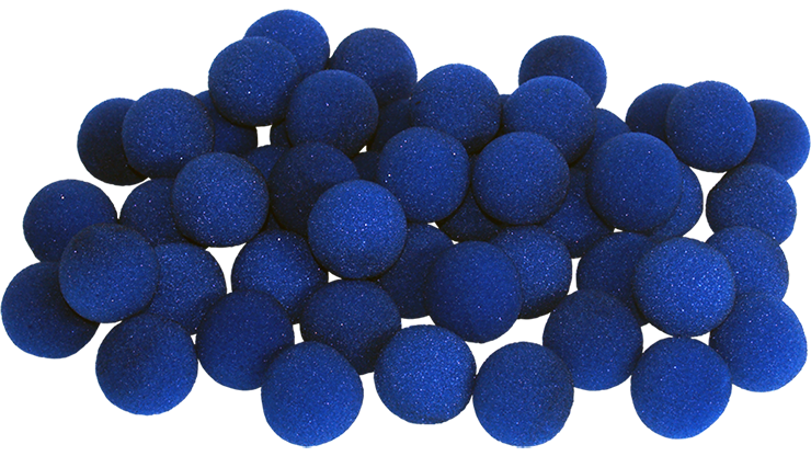 2 inch Super Soft Sponge Ball (Blue) from Magic by Gosh SINGLE BALL