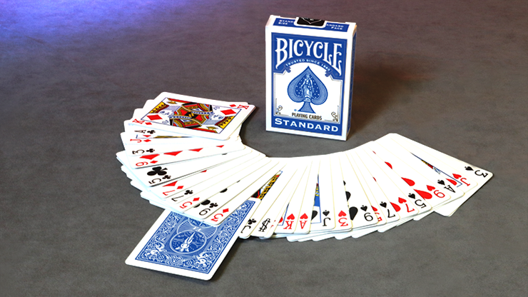Invisible Deck Bicycle (Red or Blue)