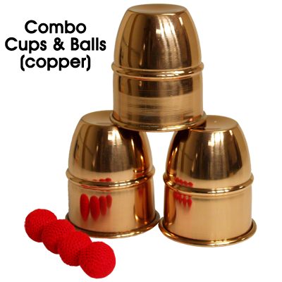 Combo Cups & Balls (Copper) by Premium magic