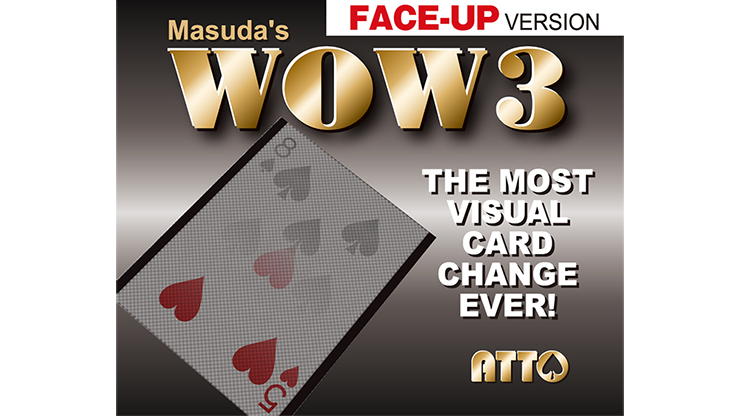 Wow 3 Face-Up (Gimmick And Online Instructions) By Katsuya Masuda