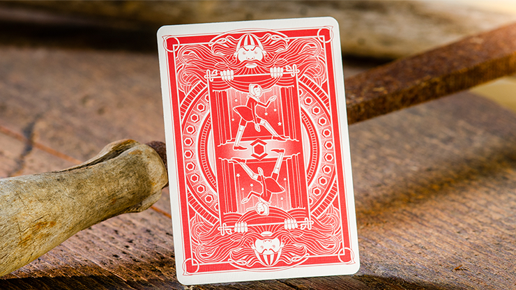 Pinocchio Playing Cards By Elettra Deganello (Red or Blue)