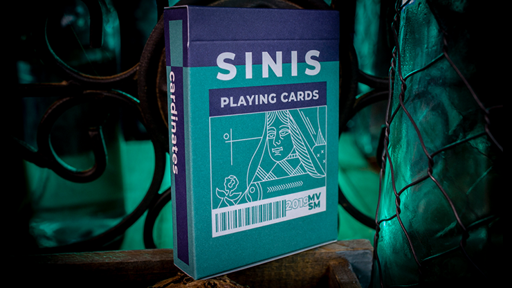 Sinis (Turquoise) Playing Cards By Marc Ventosa