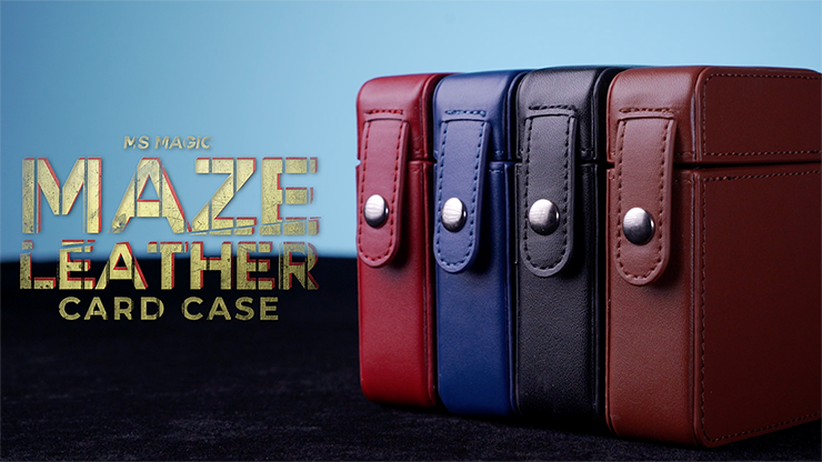 MAZE Leather Card Case (Multiple Colors) by Bond Lee
