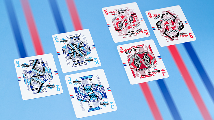 HYPER NEON Playing Cards by Riffle Shuffle