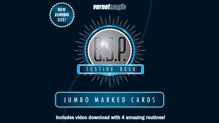 E.S.P. Jumbo Testing Cards (Gimmicks and Online Instructions) by Vernet Magic
