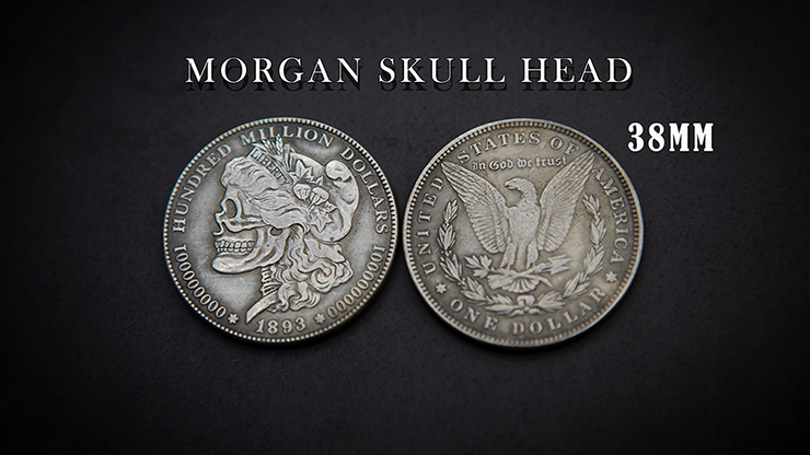 SKULL HEAD COIN (KENNEDY or MORGAN) by Men Zi Magic