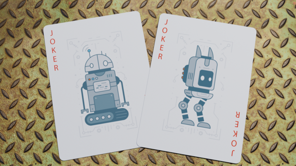 Bicycle Robot Playing Cards