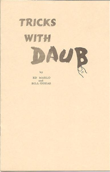 Tricks With Daub By Ed Marlo And Bill Gusias - Book