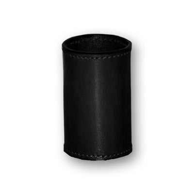 Leather Coin Cylinder (Black or Brown , Dollar Size)