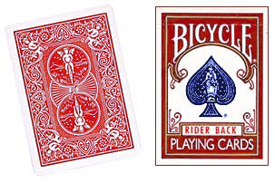 Assorted Red Back Bicycle One Way Forcing Deck (assorted values)