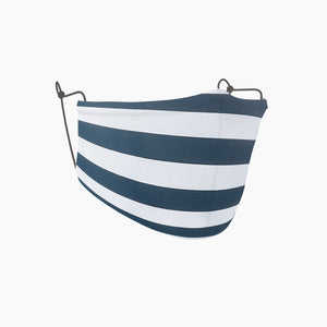 Blue and White Stripe Adult Face Mask