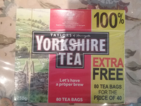 Yorkshire Teabags 80's