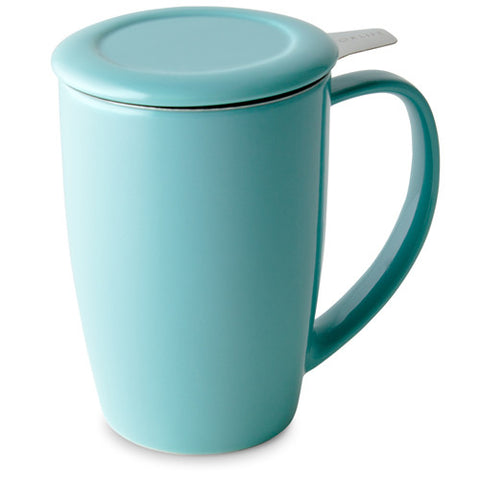 Curve Tall Tea Mug With Infuser - Blue