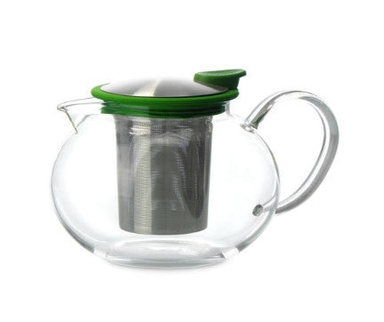 Glass Teapot with Basket Infuser, 38 oz