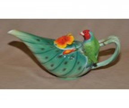 Parrot Decorated Teapot 22 Oz.