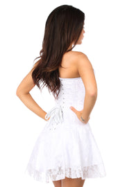 Lavish White Lace Corset Dress