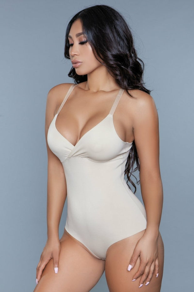 Seamless Nude Shapewear Bodysuit Full Support Tummy Control Waist Slimming Women