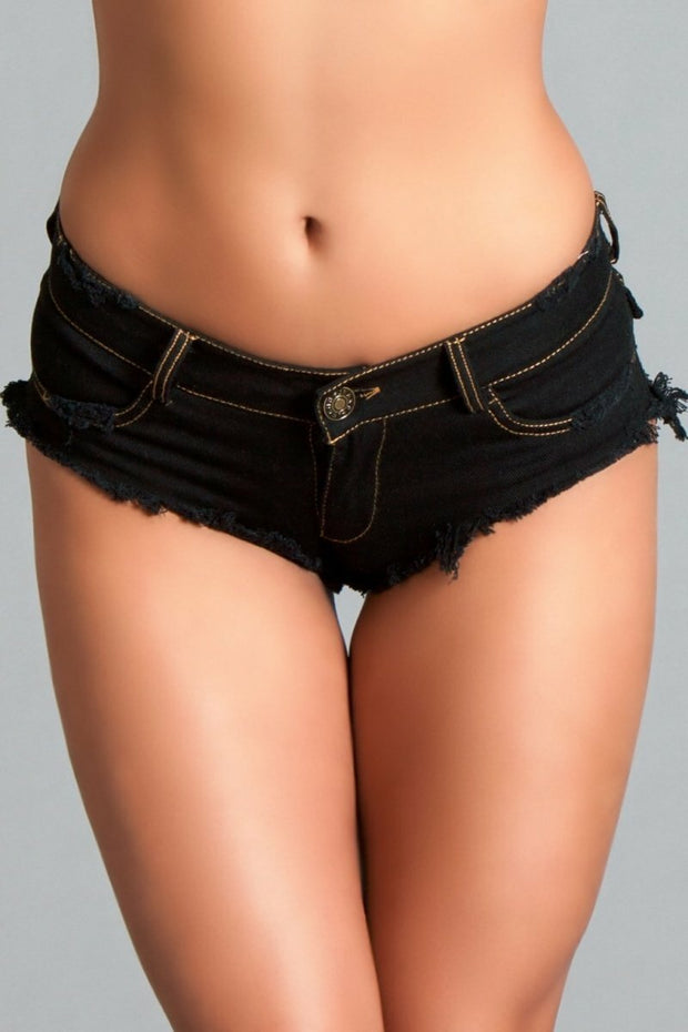 BWJ3BK Baby Got Back Booty Shorts - Black