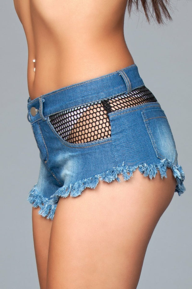 Blue Denim Booty Short Pants Casual Hot Sexy Mini Jeans For Ladies