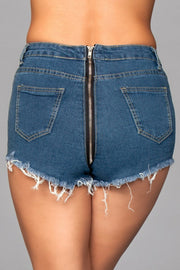 J12BL Zip Me Up Denim Shorts