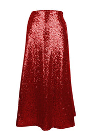 Top Drawer Long Red Sequin Skirt