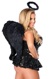 Top Drawer Premium Sequin Dark Angel Corset Dress Costume
