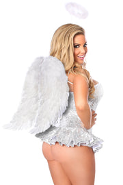 Top Drawer Premium Sequin Angel Corset Dress Costume
