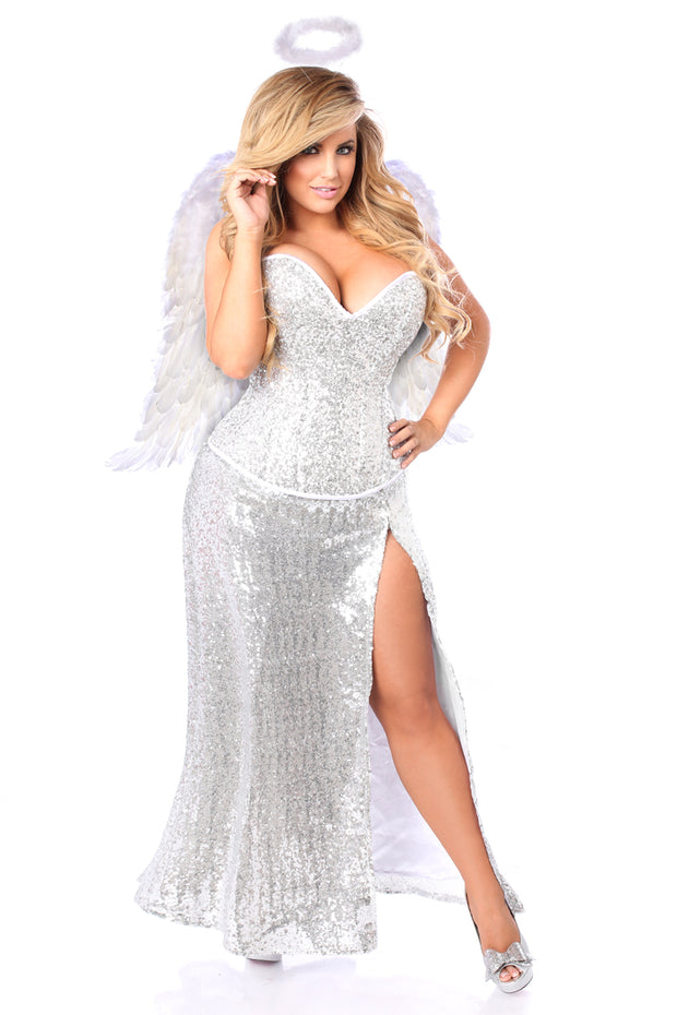 Top Drawer Premium Sequin Angel Corset Costume
