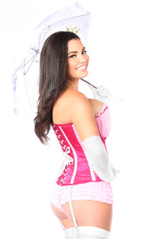 Top Drawer 6 PC Sexy Pink Princess Corset Costume