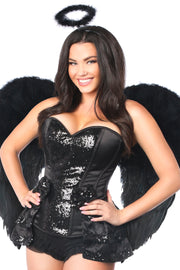 Top Drawer 4 PC Midnight Angel Corset Costume