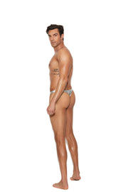 Men's Silver Lame' Thong